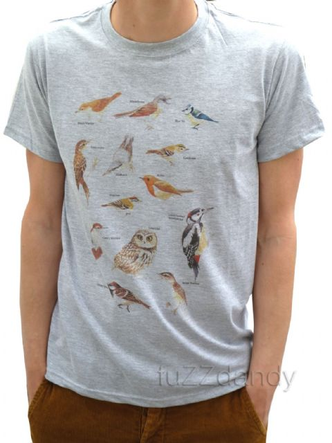 Native Birds of Britain - tee t-shirt (Grey)